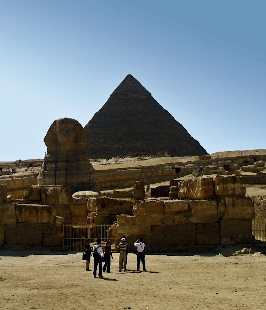 Sphinx with Pyramid of Khafre