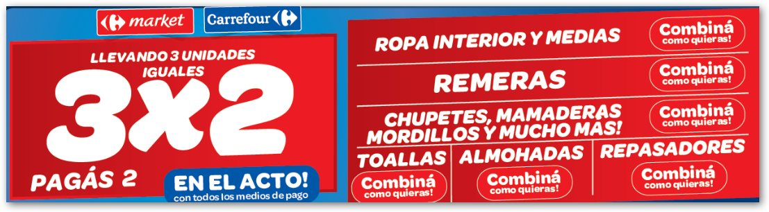 Ofertas y promos en argentina promos carrefour fin de semana gigante - Ropa interior carrefour ...