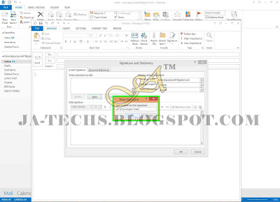 Auto Add Signature in MS Outlook Emails - Step 5