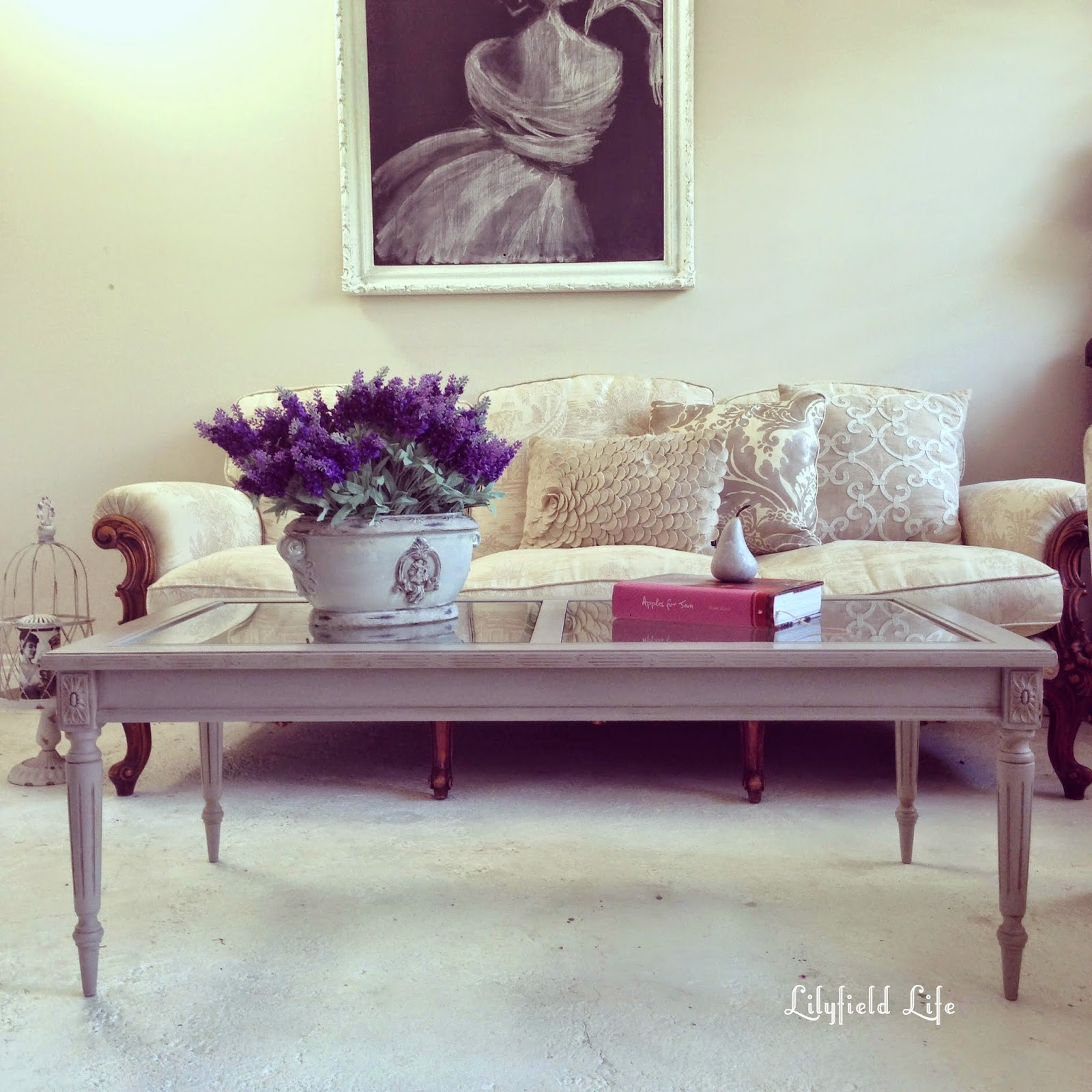 french coffee table hand painted furniture Lilyfield Life