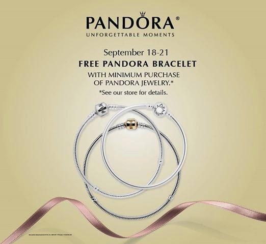 We Re Excited To Tell You About The Gest Pandora Event Of Year September Free Bracelet Promotion Starting Next Thursday Sept