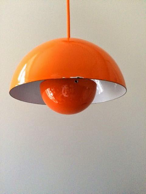 retro furniture verner panton flowerpot pendel orange. Black Bedroom Furniture Sets. Home Design Ideas