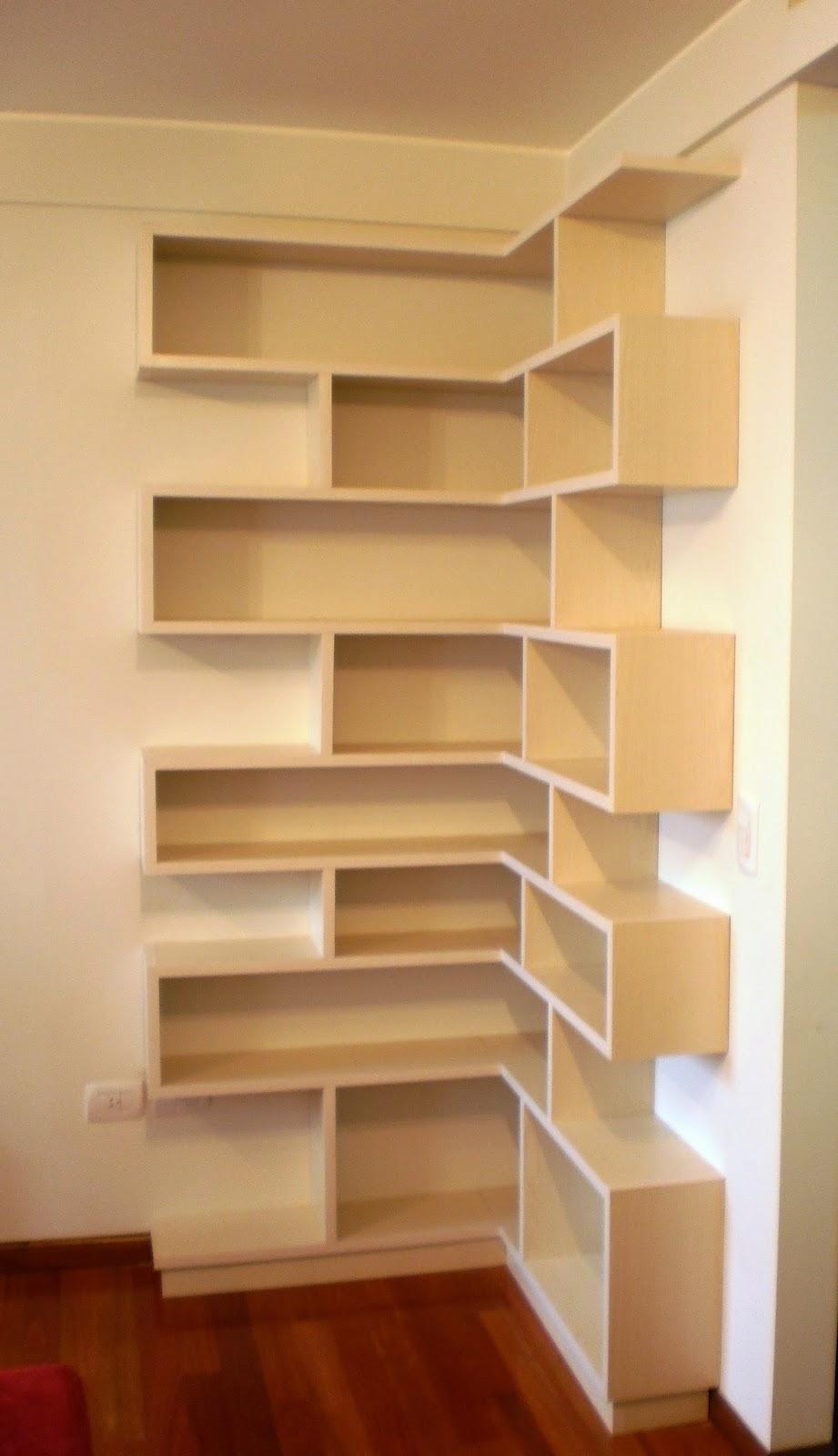 Modulor muebles biblioteca en esquina for Libro de muebles de melamina