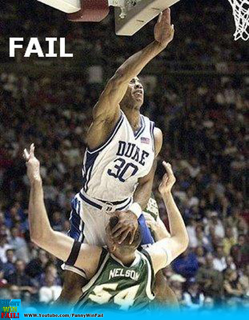 Nothing like a face full of nuts - funny basketball picture
