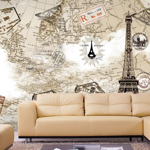 NA MINHA MALA TEM DE TUDO Mapa Mundi na parede