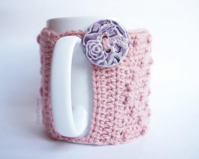 housse couvre tasse à café vieux rose par CocoFlower
