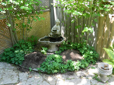 Ravina Crescent back garden renovation before Paul Jung Gardening Services Toronto