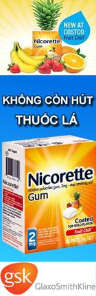 Kẹo Cai Thuốc Lá Nicorette
