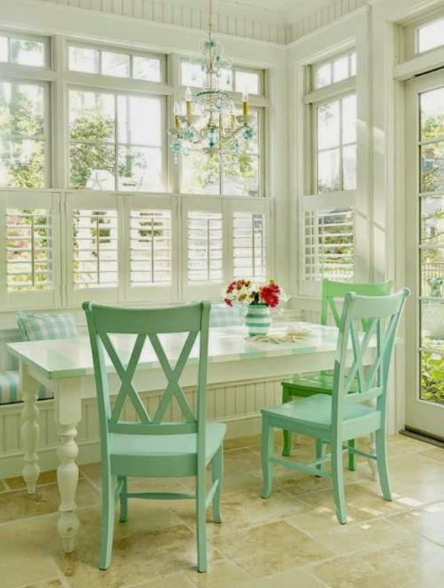 kitchen nook set bright