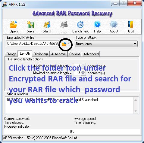 Программа Advanced Archive Password Recovery. После запуска программы.