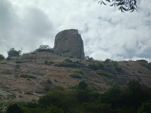 Top of Hill with temple in Denkanikottai Reserve forest, Tamil Nadu