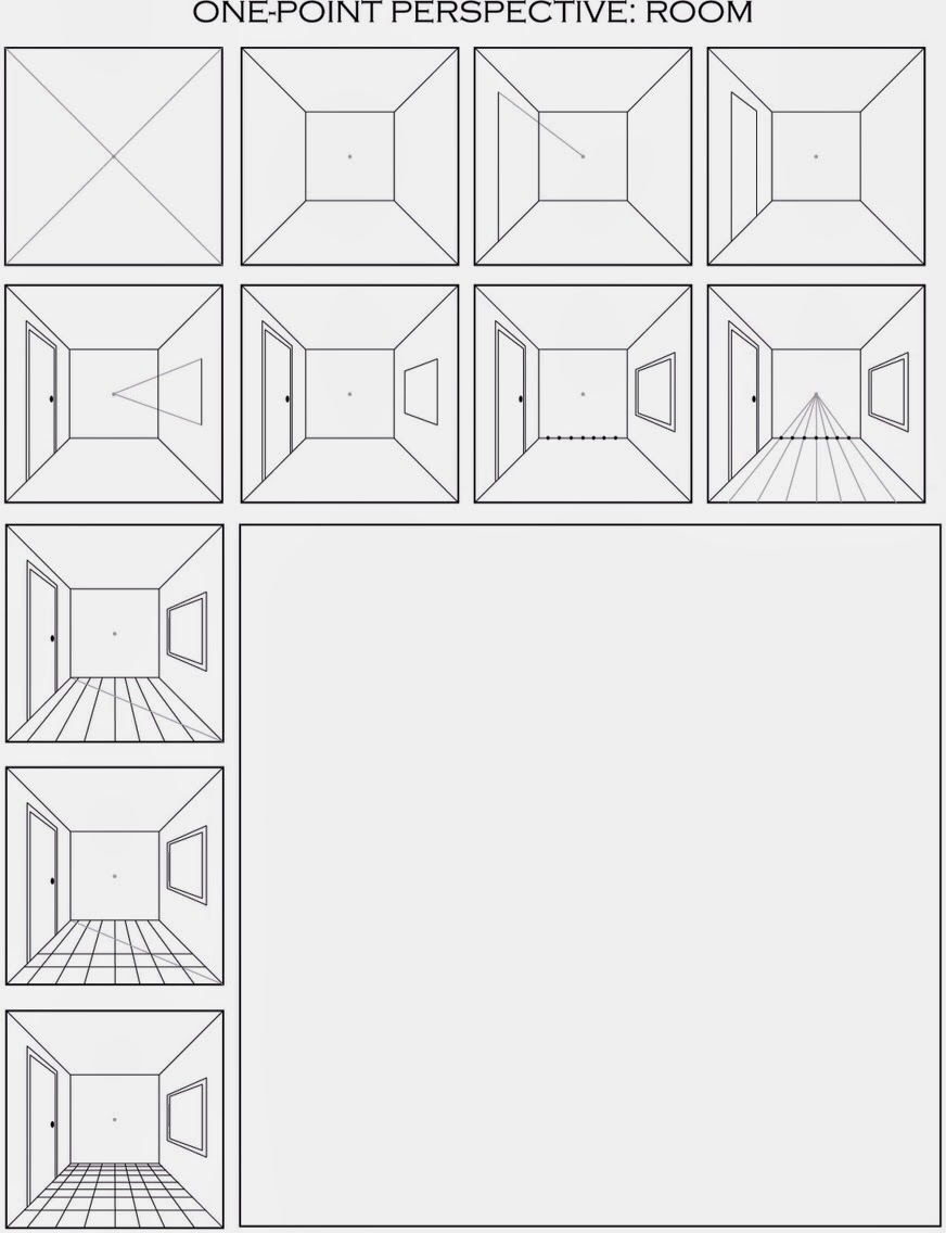 FREE two point perspective printable worksheets Great for – Point of View Worksheets Middle School