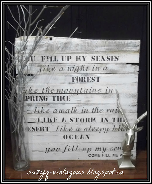 DIY Pallet art, John Denver, Annie's Song, Annie Sloan Chalk Paint