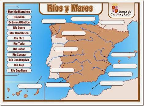 Ríos y mares de España.