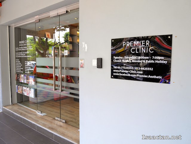 The clinic front