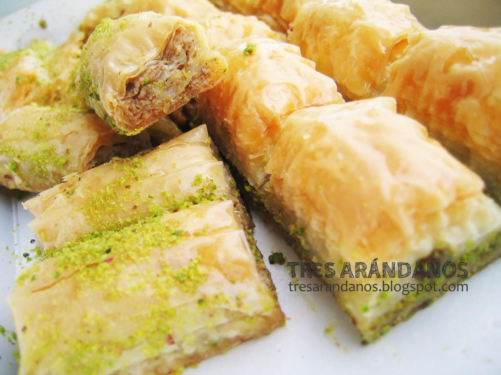 baklavas de pistacho de estambul
