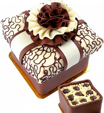 торт шоколадная коробка фото