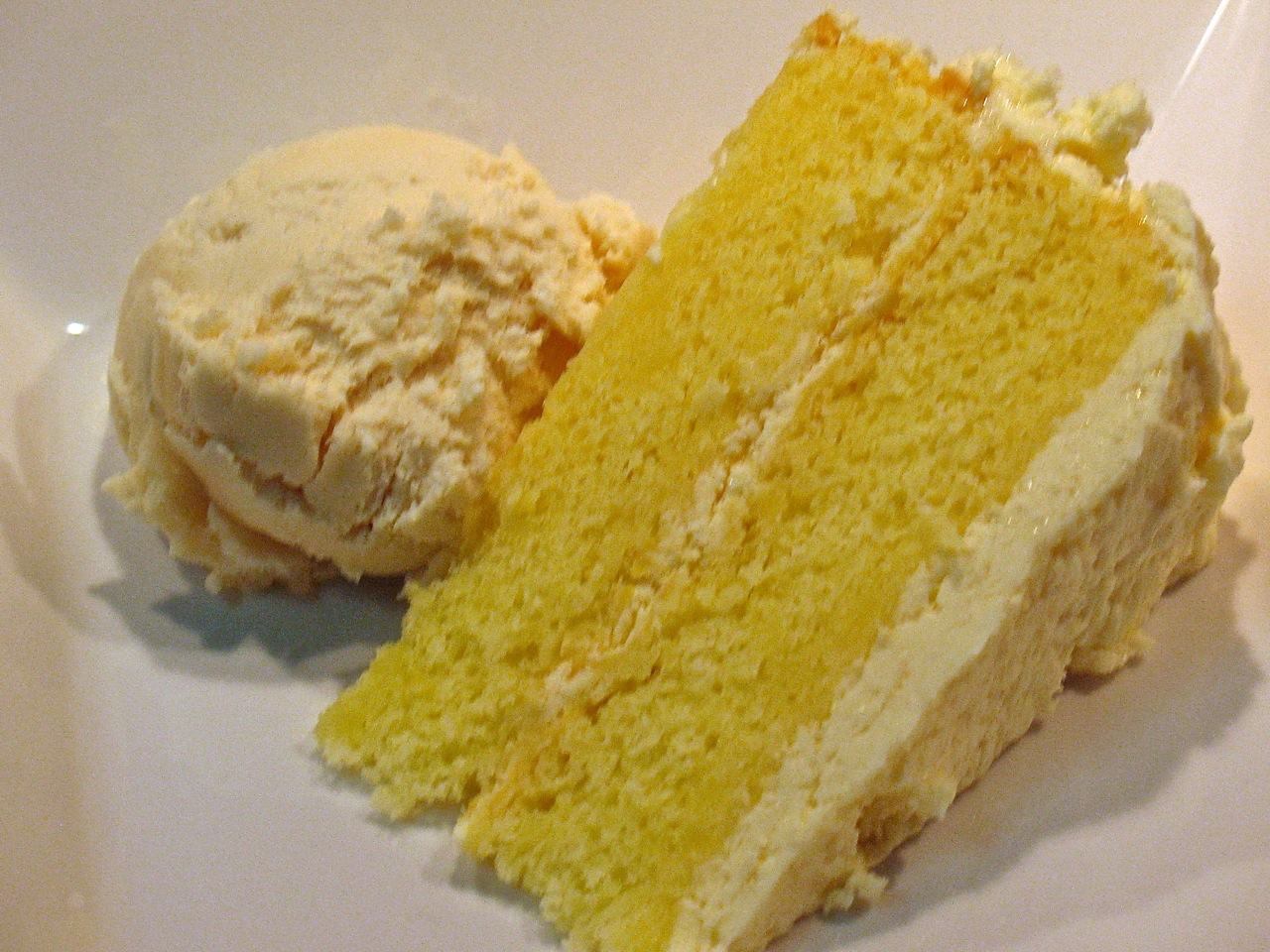 ... Cake with Honey-Mascarpone Frosting and Ginger-Brown Sugar Ice Cream