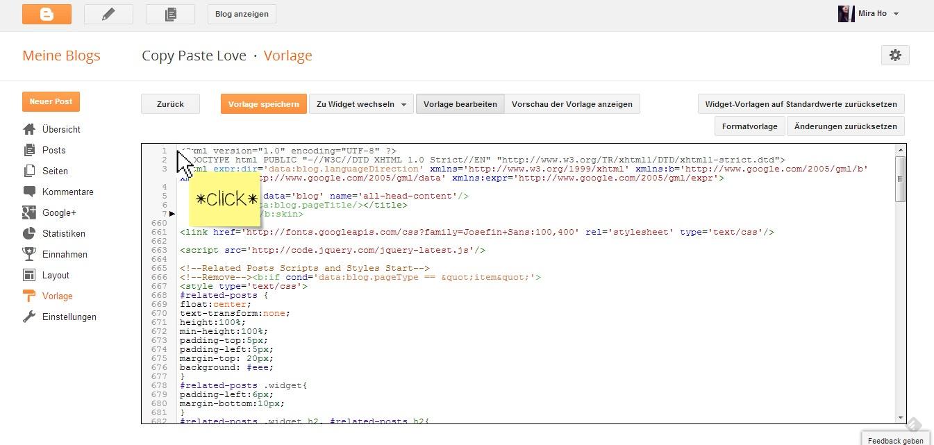 Copy Paste Love | by MiraDesigns: Suchen & Finden mit dem HTML-Editor