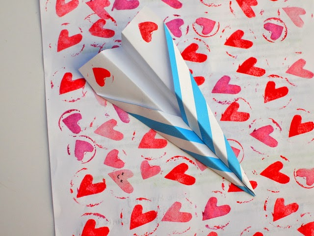 paper plane valentine cards for kids