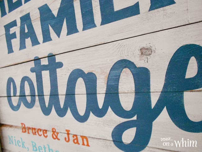 Aubusson Blue Chalkpaint on a Custom Cottage Sign from a Repurposed Window  | Denise on a Whim