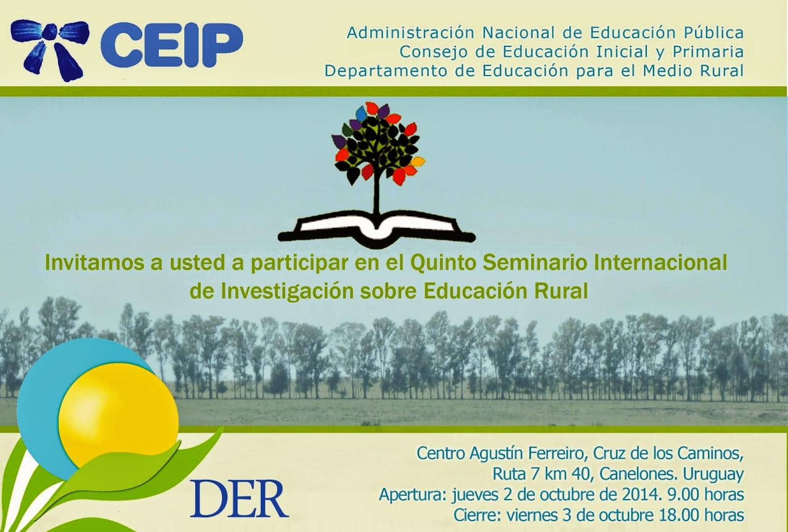 Quinto seminario Educación Rural