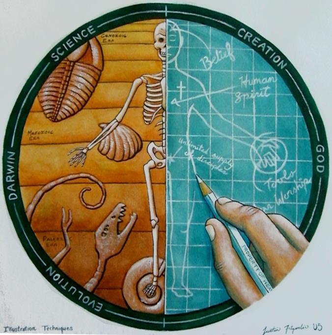 evolution vs intelligent design research paper