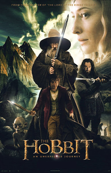 Poster Of The Hobbit An Unexpected Journey 2012 720p Hindi BRRip Dual Audio