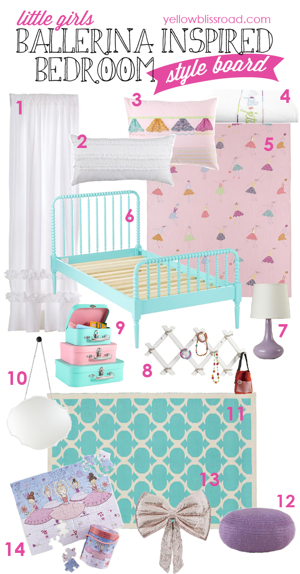 Little Girlu0027s Ballerina Bedroom Inspiration: Tons Of Links To Fabulous  Inspiration For Your Little Ballerina