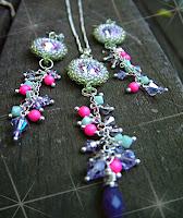Vitrail Fling - Swarovski Rivoli Necklace & Earrings