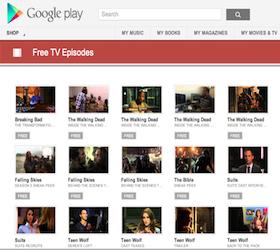 Google Play Free TV Episodes