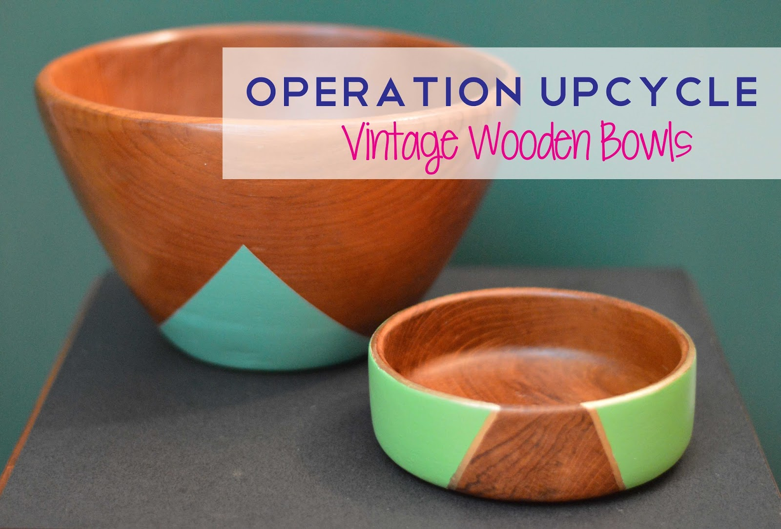upcycled vintage wooden bowls