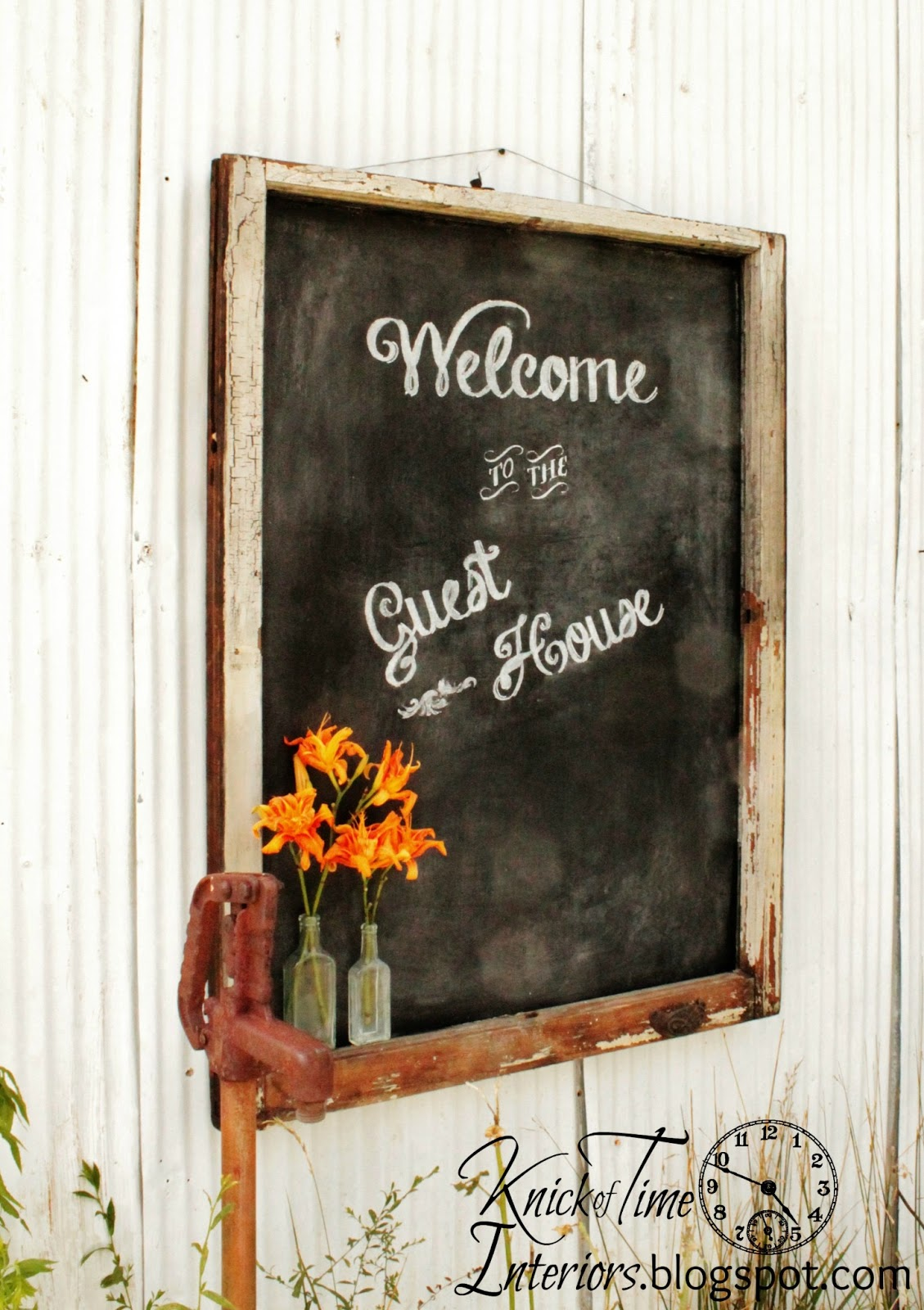 Diy Chalkboard Lettering Guest House Sign Knick Of Time