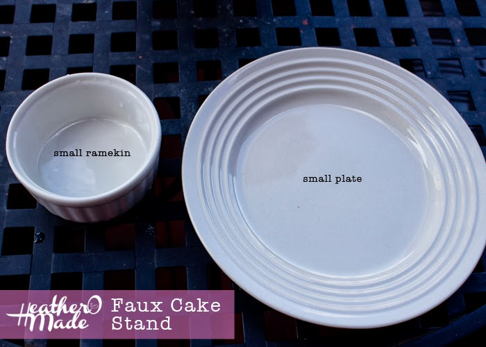 diy a faux cake stand