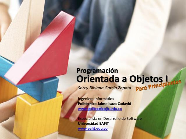 Presentacion basica y simple sobre la Programacion Orientada a Objetos