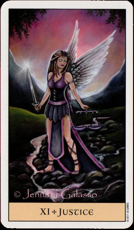 Crystal Visions Tarot Justice