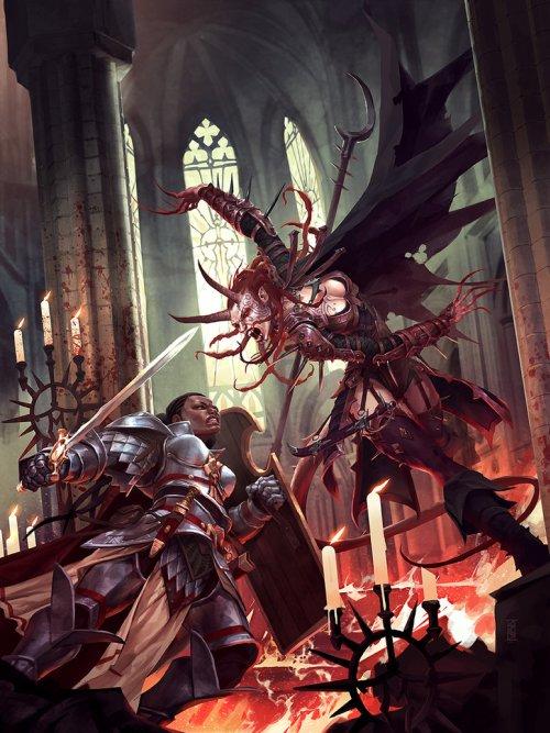 michal ivan ilustrações fantasia ficção científica games quadrinhos sangue de demônios