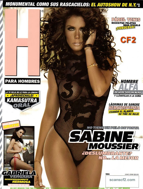 Sabine Moussier Revista H para hombres Junio 2008