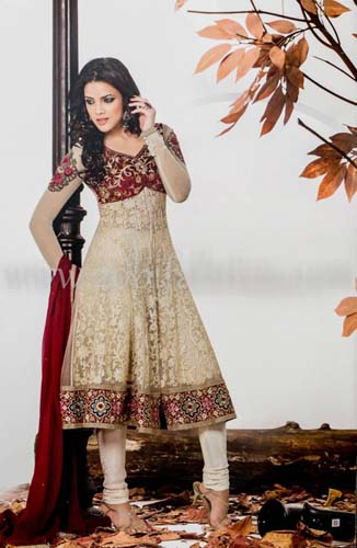 Zobi Fabrics Latest Party Wear Outfits Collection 2013 For girls Women 4 - Zobi Fabrics Latest Party Wear Outfits