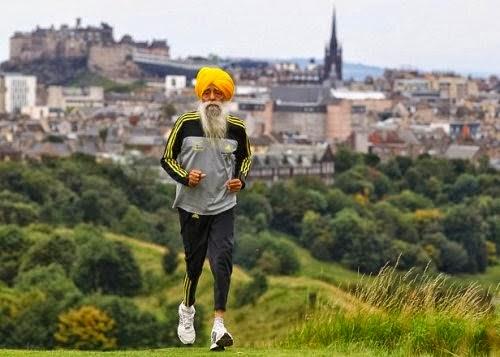 Фауджа Сингх - увлекся бегом в 89 лет. Теперь ему 103 года