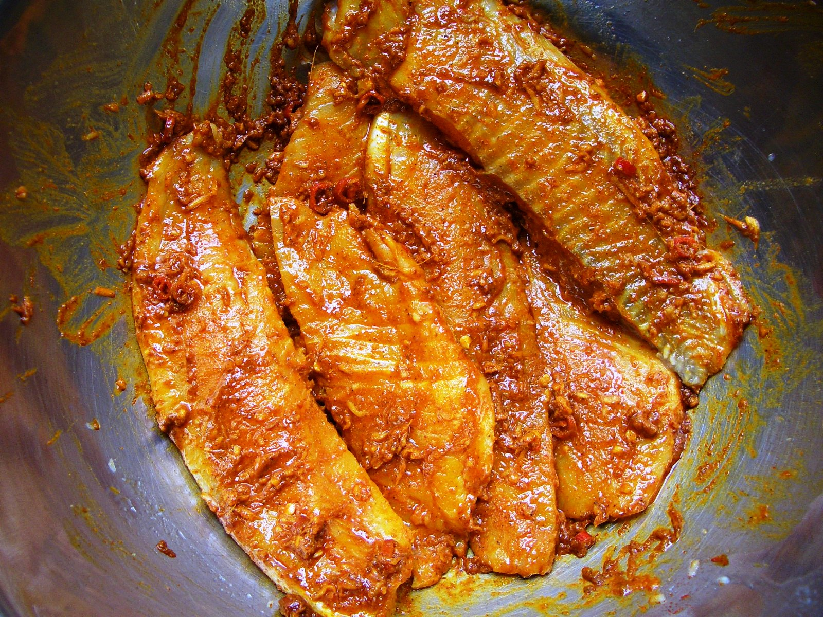 Patel brothers fish with bell peppers for Marinade for fish