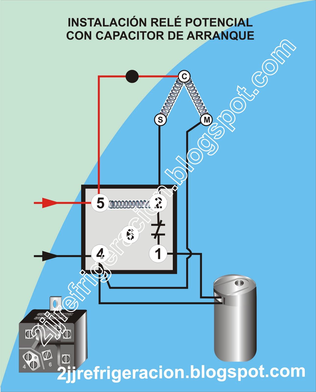 diagrama de coneccion de un relay