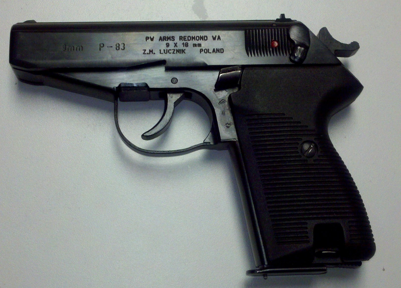 Law and commentary the p 83 wanad more 9x18 pistol craft from radom