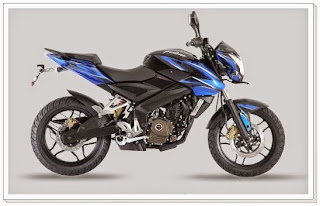 Bajaj Pulsar 200ns Black and Blue color