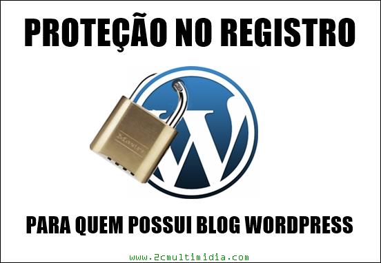 Proteção adicional no registro do blog