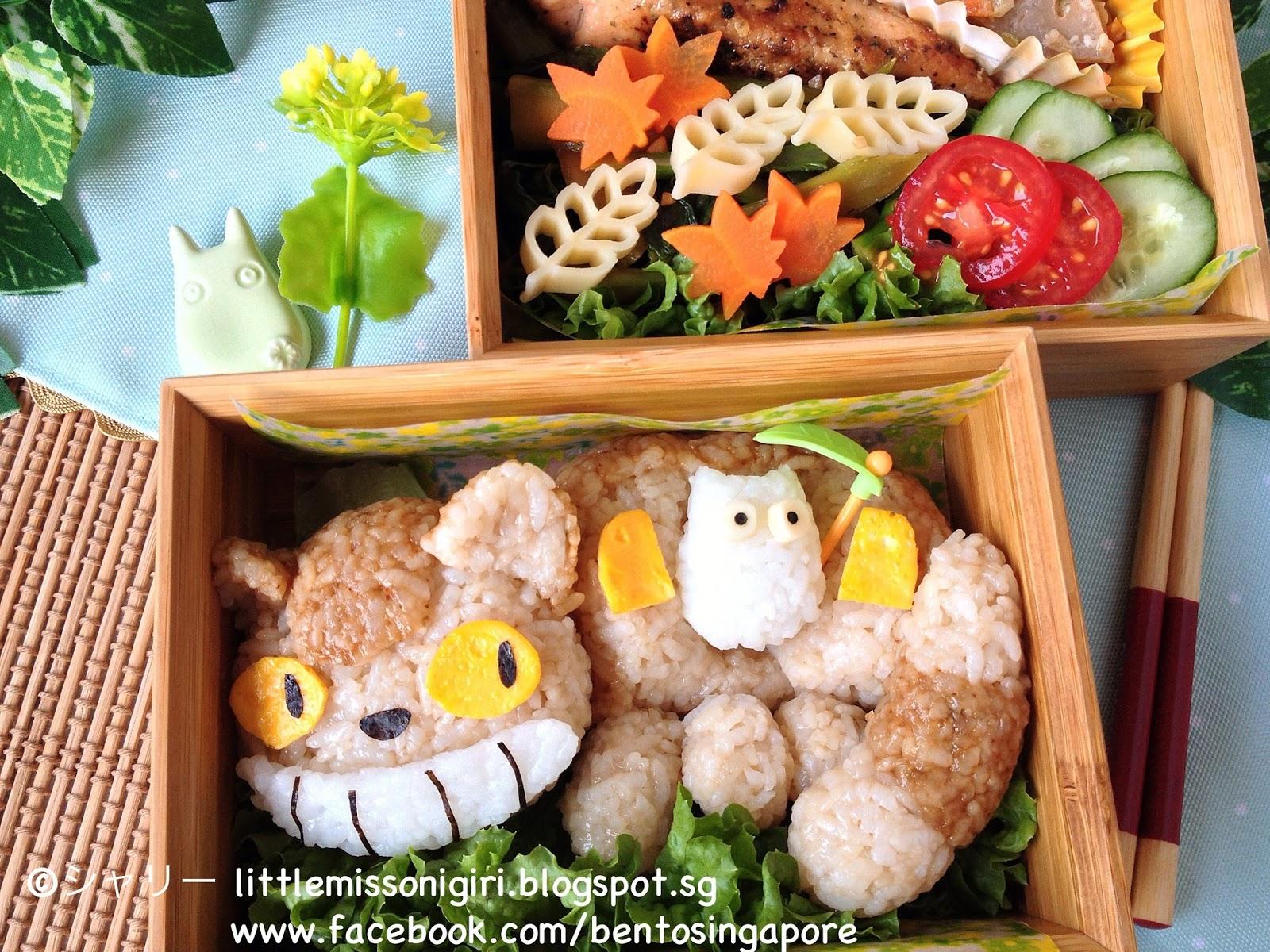 ネコバスのキャラ弁 Catbus Totoro ...