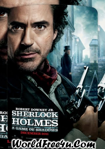 Poster Of English Movie Sherlock Holmes 2: A Game Of Shadows (2011) Full Movie Free Download Watch Online At Downloadingzoo.Com