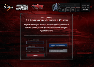Doritos Assemble the Avengers website screen 1
