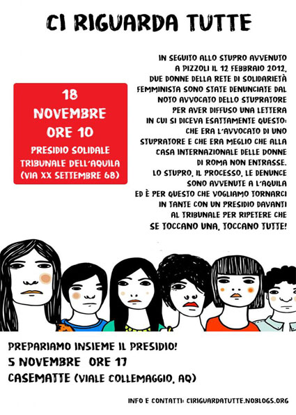 """Verso il 25 novembre, perché """"ci riguarda tutte""""!"""
