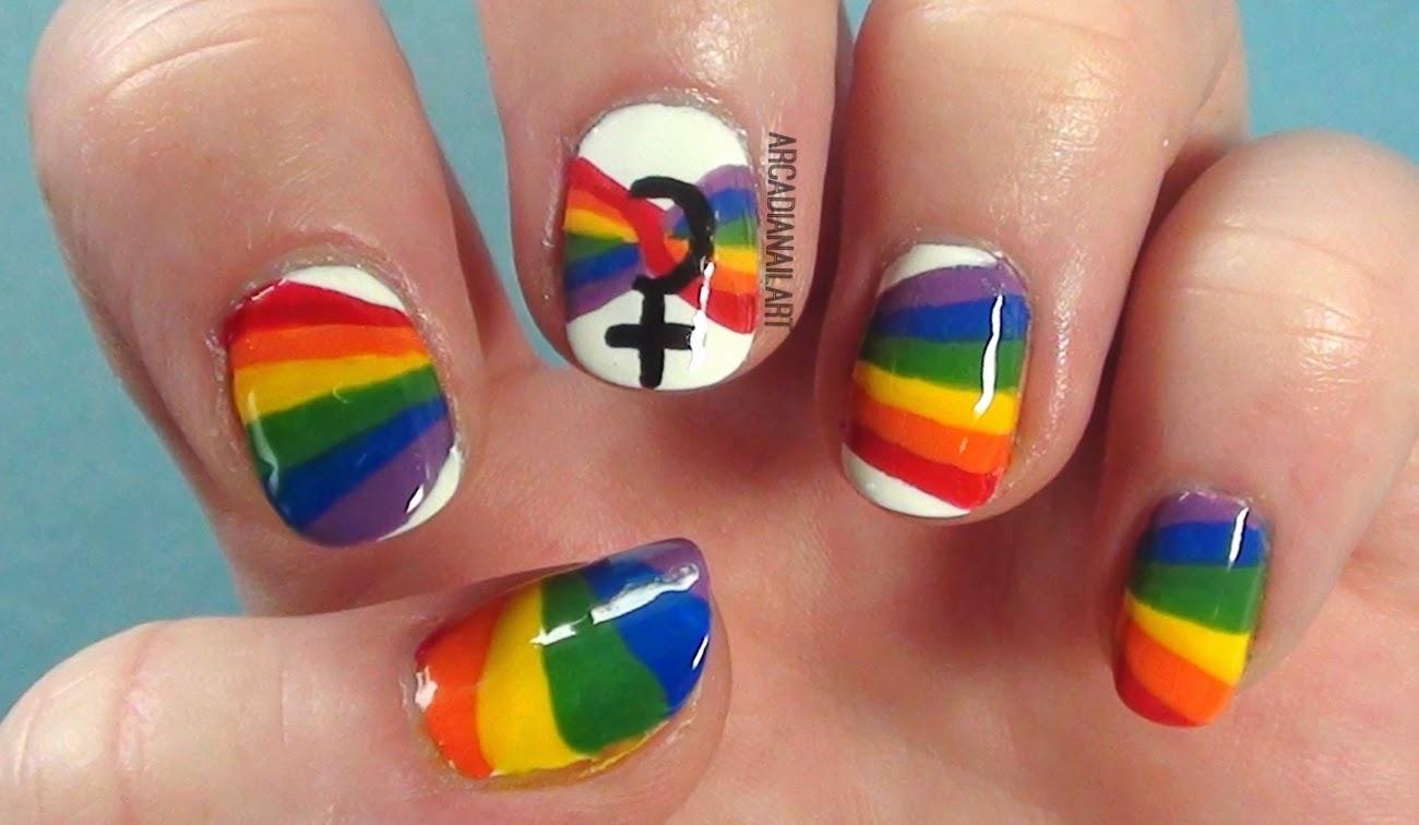 Rainbow Pride Nails